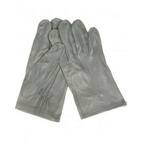Bw Lederfingerhandschuhe ungefüttert grau, gebraucht