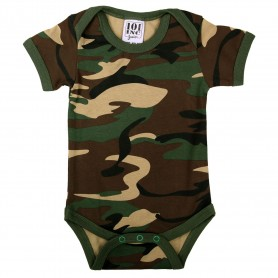 Baby romper with sleeve woodland