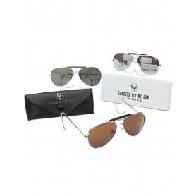 AF Sonnenbrille mit Etui, verspiegelt