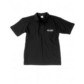 Security Poloshirt schwarz mit Druck