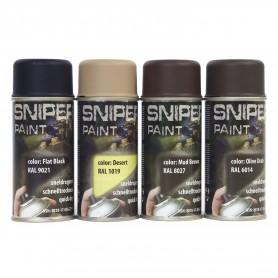 Sniper Paint Sprühfarbe 150 ml, schnelltrocknend, 4 Farben