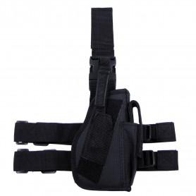 MFH Pistolenbeinholster, schwarz, Bein- und Gürtelbef., rechts