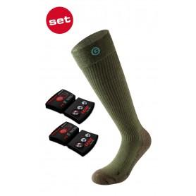 Lenz Set of heat sock 3.0 + lithium pack rcB 1200 grün
