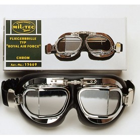 Fliegerbrille Typ Royal Air Force, chrom