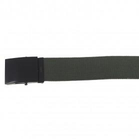 Gürtel 4,5 cm breit mit Metallkastenschloß olive