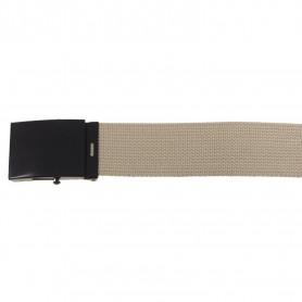 Gürtel 4,5 cm breit mit Metallkastenschloß khaki