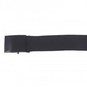 Gürtel 4,5 cm breit mit Metallkastenschloß black
