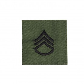 """US Rangabzeichen """"Staff Sgt."""" Textil oliv"""