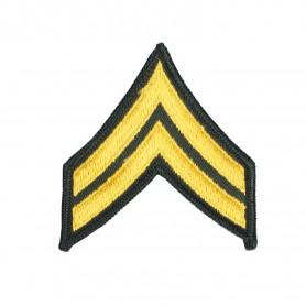 """US Rangabzeichen """"Corporal"""" Textil Aufnäher, Paar"""