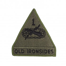 US Abzeichen 1st Armored Divison oliv