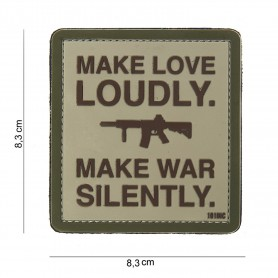 Patch 3D PVC Make love loudly sand