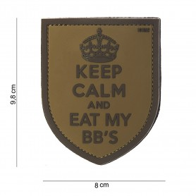 Patch 3D PVC Keep Calm sand