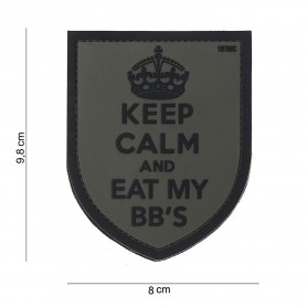 Patch 3D PVC Keep Calm grey