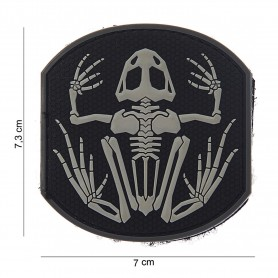 Patch 3D PVC Frog skeleton black