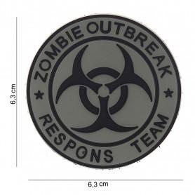 Patch 3D PVC Zombie outbreak respons team