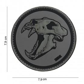 Patch 3D PVC sabertooth tiger darkgrey