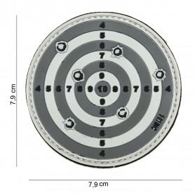 Patch 3D PVC Target grey