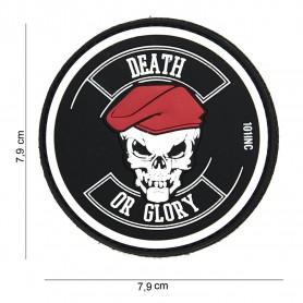 Patch 3D PVC Death or glory black