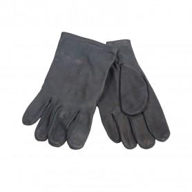 Bw Lederhandschuhe grau ohne Futter