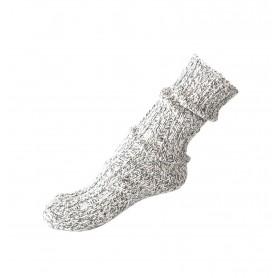 Norwegische Socke grau meliert