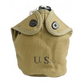 US Feldflasche M10 komplett mit Hülle (Repro)