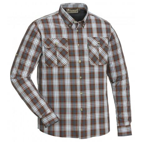 Pinewood® Bamboo Hemd Mid Copper / Weiß
