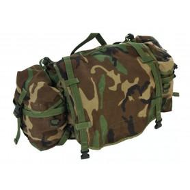 US Mainpack mit Seitentasche woodland gebraucht