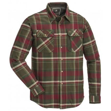Pinewood® Cornwall Flanell Hemd Green/Burgund
