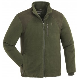 Pinewood® Harrie Fleece Jacke Grün/Mokkabraun