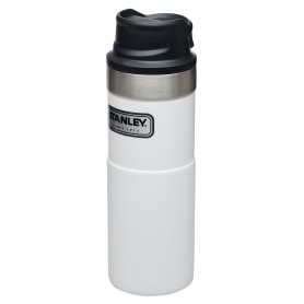 Stanley Classic Trigger-Action Travel Mug 473ml Reisebecher Polar White