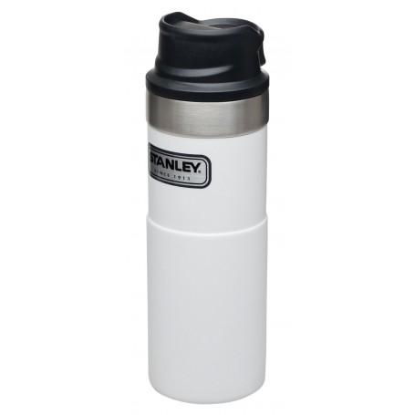 Stanley Classic Trigger-Action Travel Mug 473ml Reisebecher Polar White