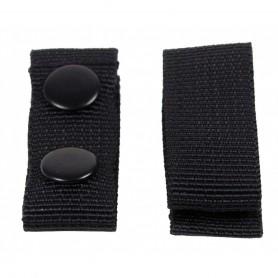 Gürtelhalter mit 2 Druckknöpfen schwarz