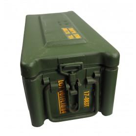 Munitionskiste / Munitionsbehälter Stahlblech 47x21x18, gebraucht