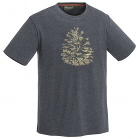 Pinewood® Pine Outdoor T-Shirt blue melange