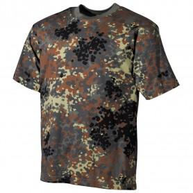 MFH US T-Shirt halbarm, flecktarn