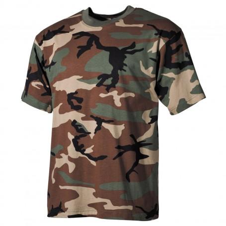 MFH US T-Shirt halbarm, woodland