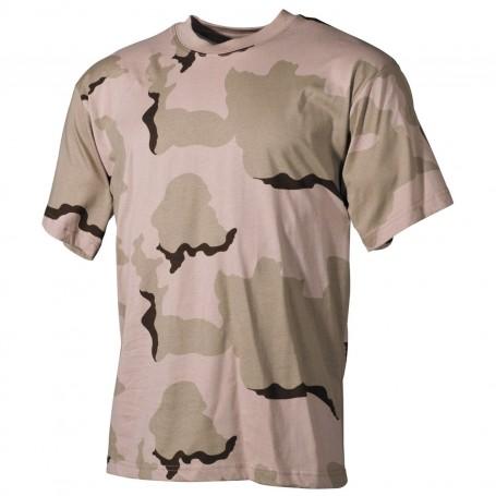 MFH US T-Shirt halbarm, 3 Farben-desert