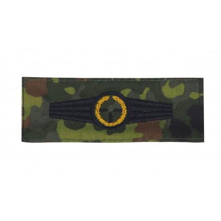 Bundeswehr Scharfschützenabzeichen Gold tarn auf flecktarn