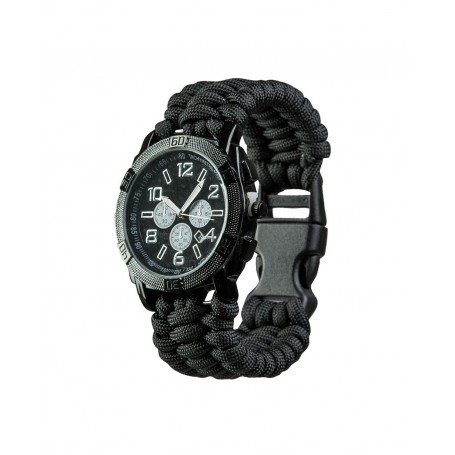 "Mil-Tec® Army Uhr ""Paracord"" schwarz Armbanduhr"