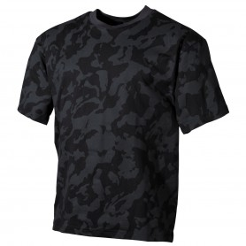 MFH US T-Shirt halbarm, night camo