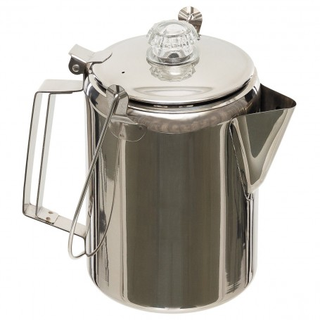 Fox® Outdoor Coffee Pot Kaffeekanne mit Perkolator, Edelstahl