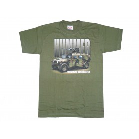 T-Shirt HMMV with M242 Bushmaster oliv