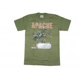 T-Shirt Apache AH-64 A oliv