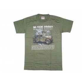 T-Shirt M-1036 HMMV with TOW Launcher oliv