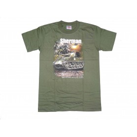 T-Shirt M4 Sherman Tank oliv