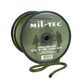 Commando Seil Rolle mit Militär Rebschnur oliv 7mm 50m