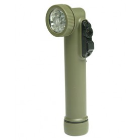 Winkeltaschenlampe 6 LED oliv