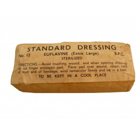 Brit. Standard Dressing No. 12 Euflavine (Large) WWII