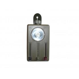 Schwed. Taschenlampe Kunststoff oliv, neu