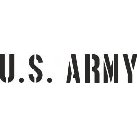 Beschriftungsschablone Satz  U.S. ARMY 3inch (76mm)